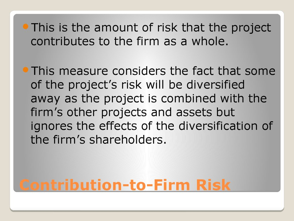 Contribution-to-Firm Risk