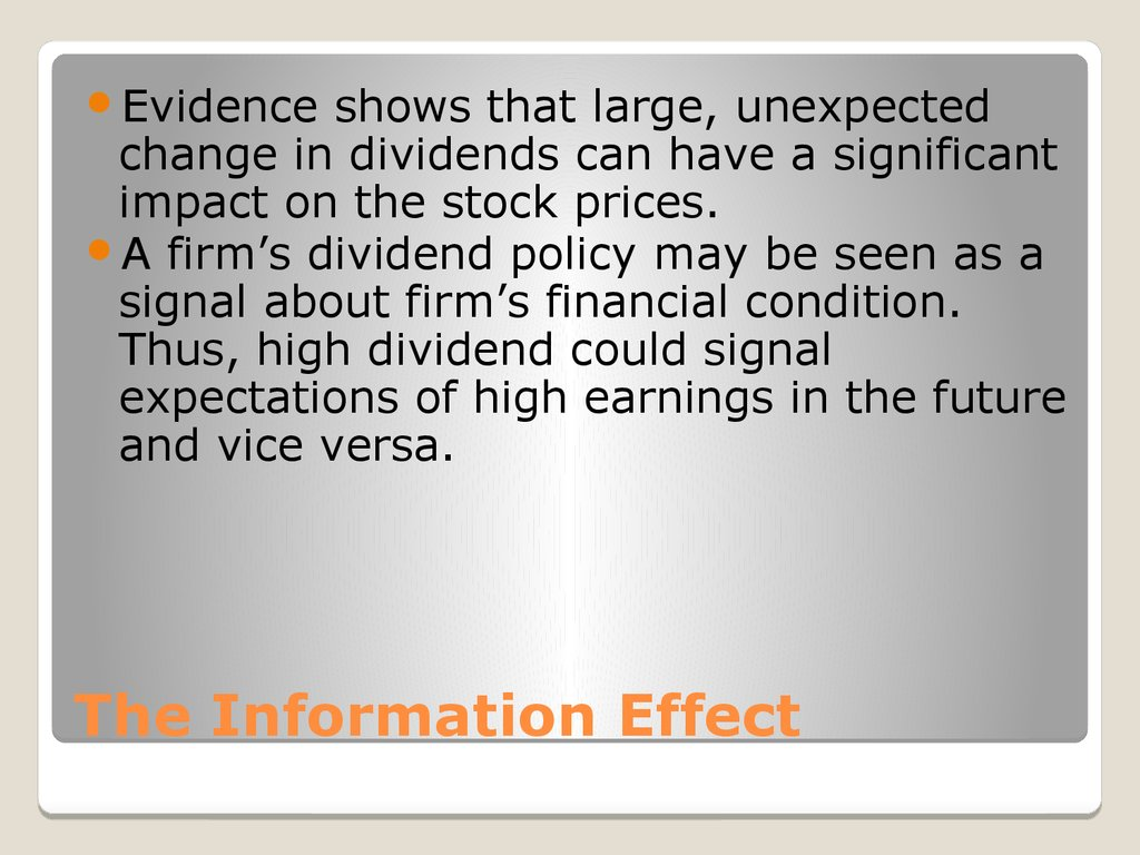The Information Effect