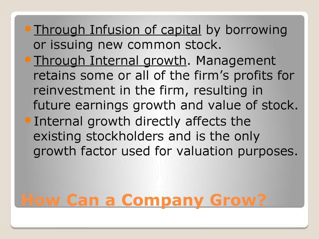 How Can a Company Grow?