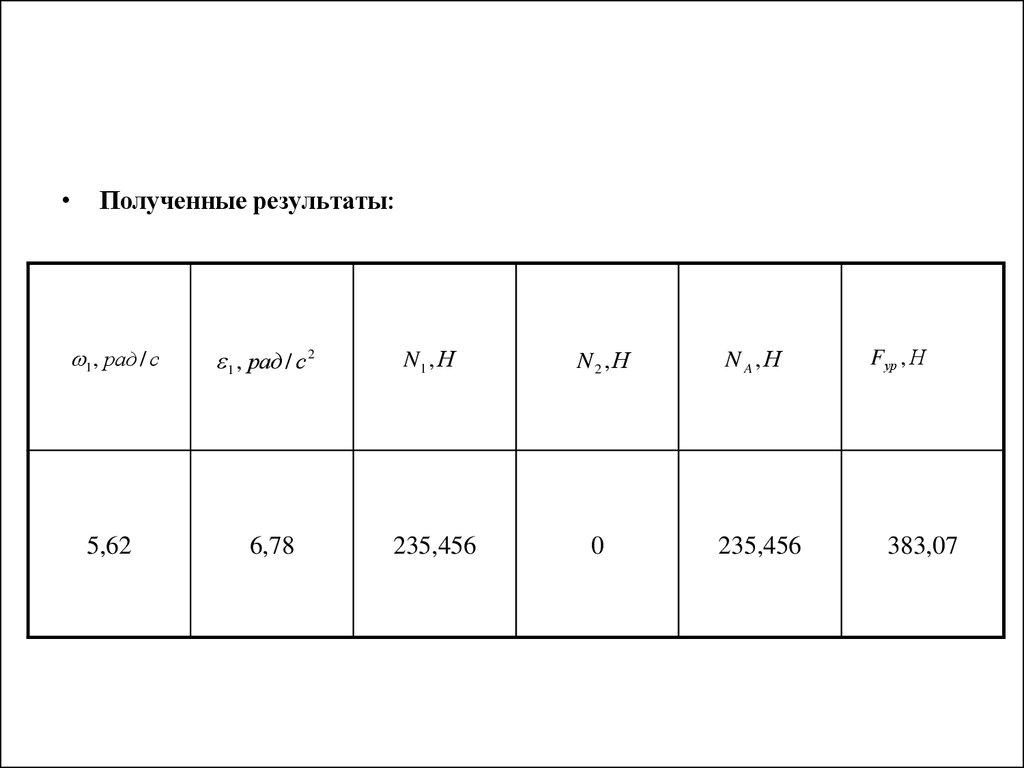 Курсовая работа по теоретической механике online presentation 12