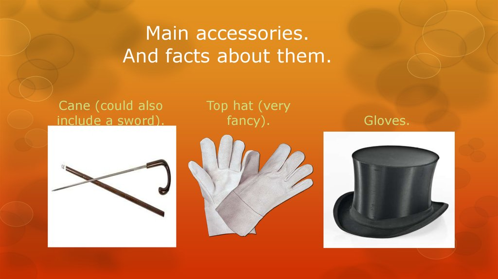Main accessories. And facts about them.