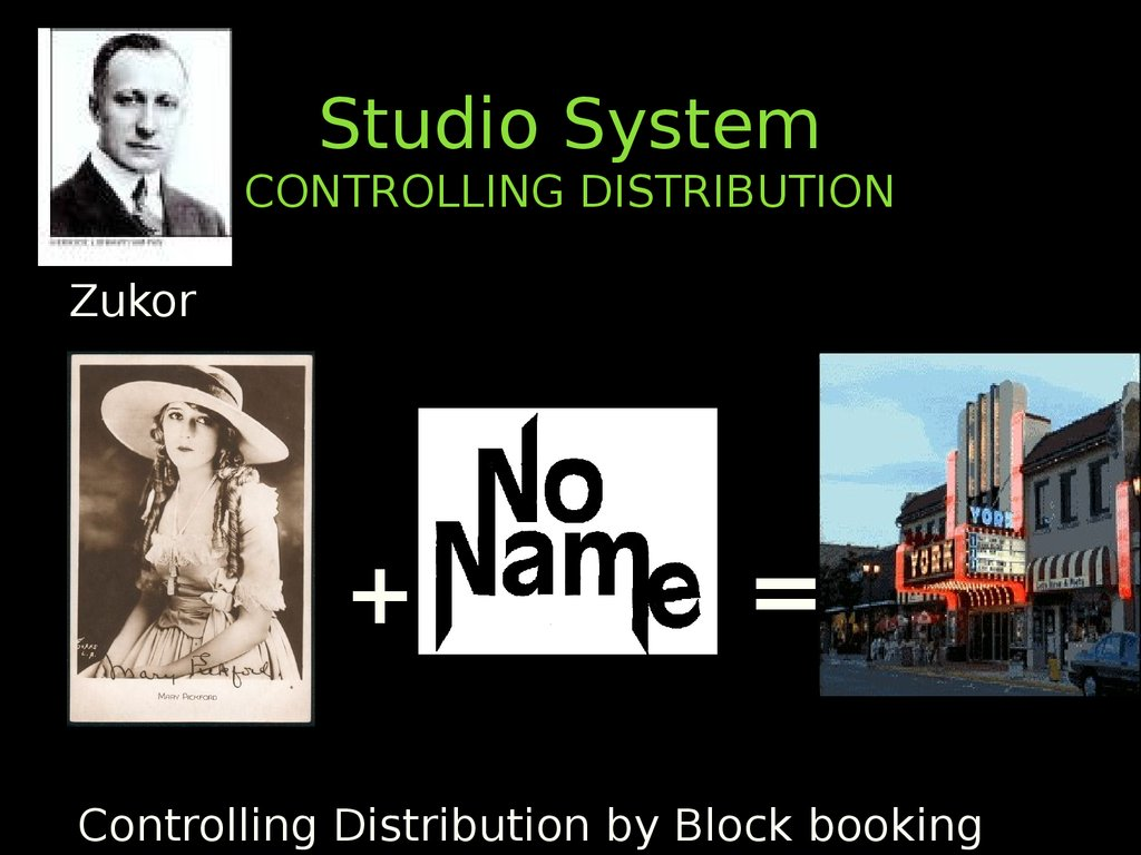 Studio System CONTROLLING DISTRIBUTION
