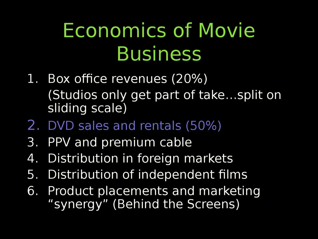 economics of the movie business essay Don't worry—consider me your architect i'm here to give you an analytical essay outline that'll make writing the final draft (relatively) painless.