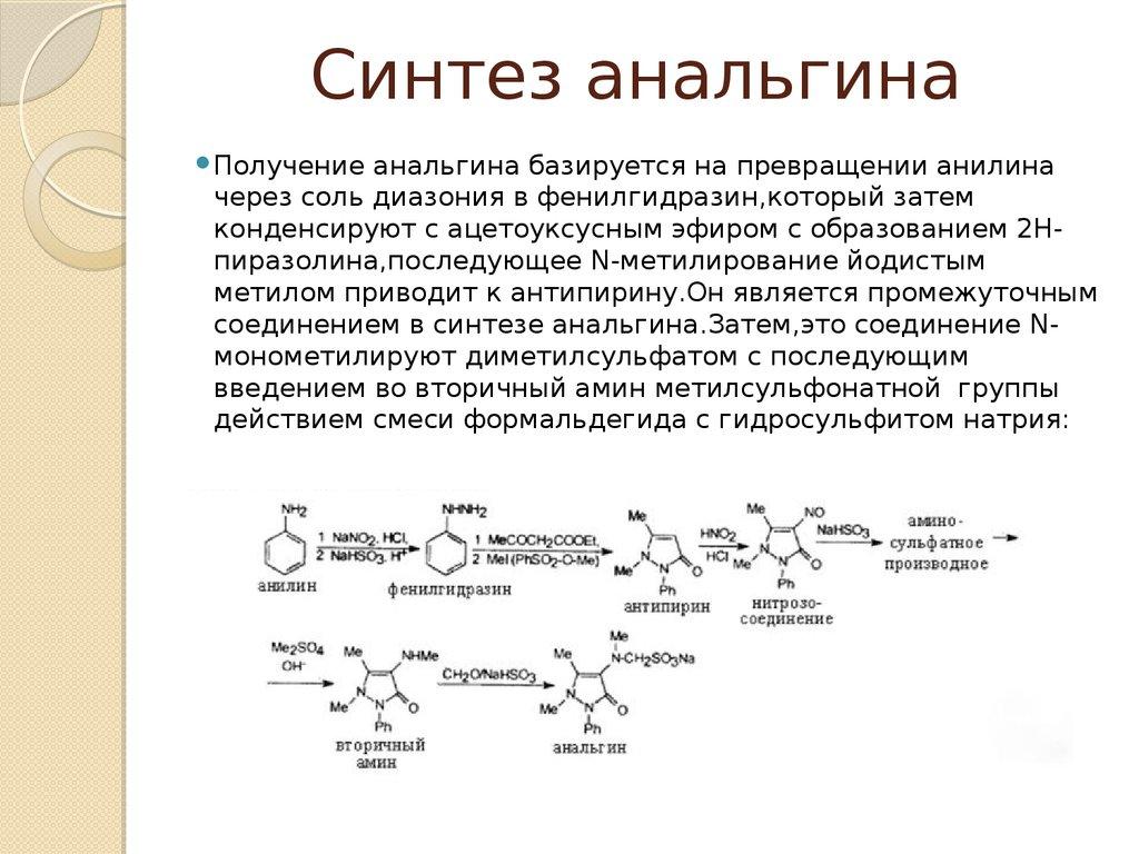 Синтез анальгина