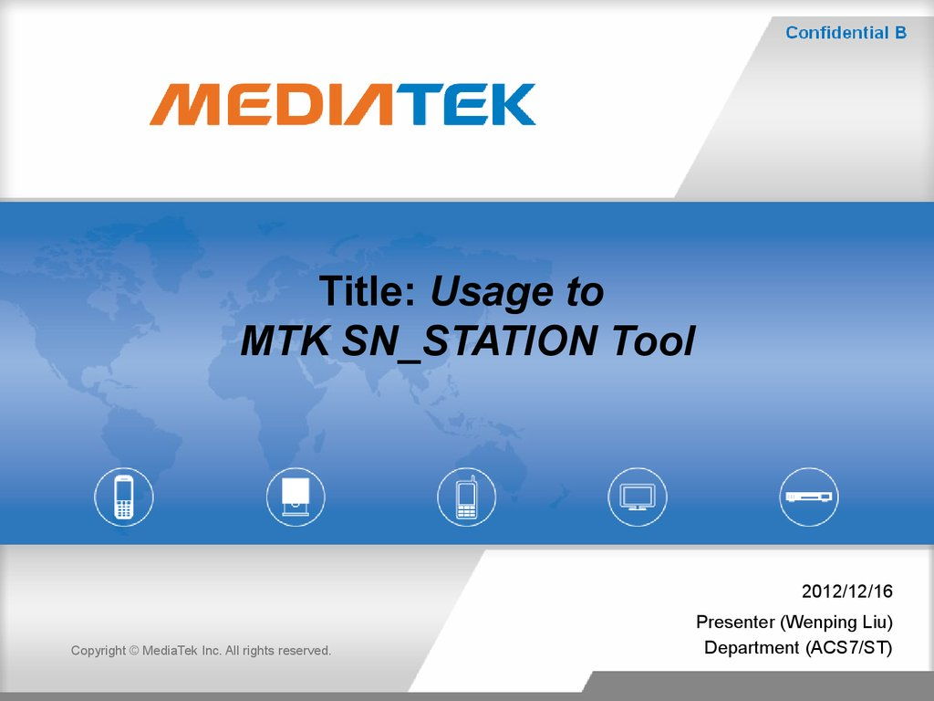 Title: Usage to MTK SN_STATION Tool