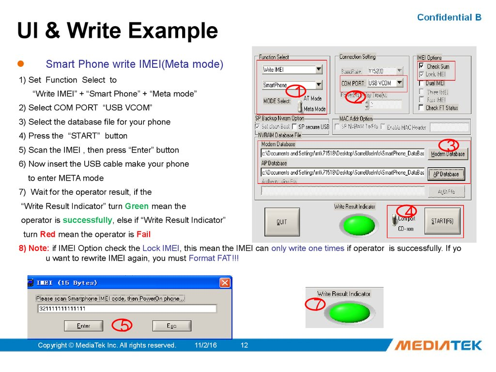 UI & Write Example