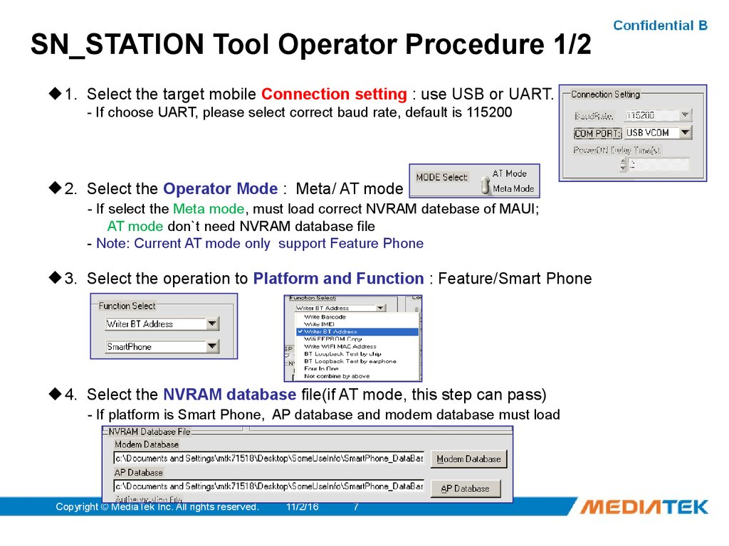 SN_STATION Tool Operator Procedure 1/2