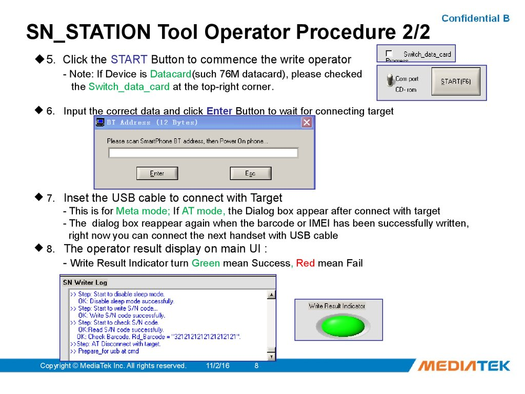 SN_STATION Tool Operator Procedure 2/2