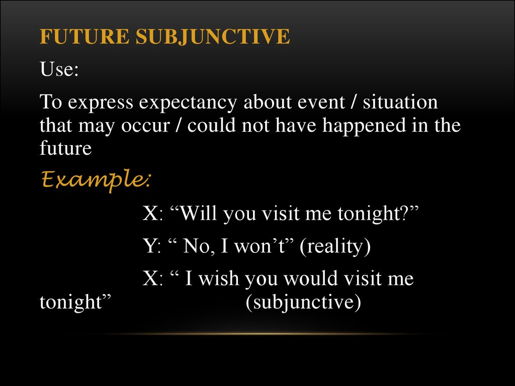 the problems of the subjunctive mood
