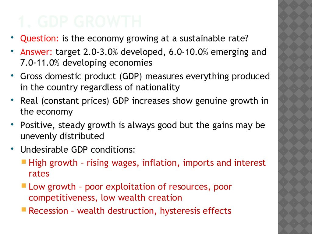1. GDP Growth
