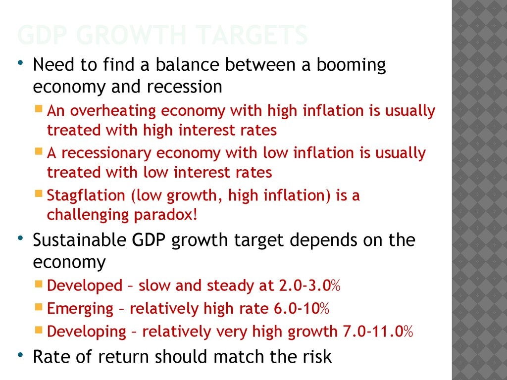 GDP Growth targets