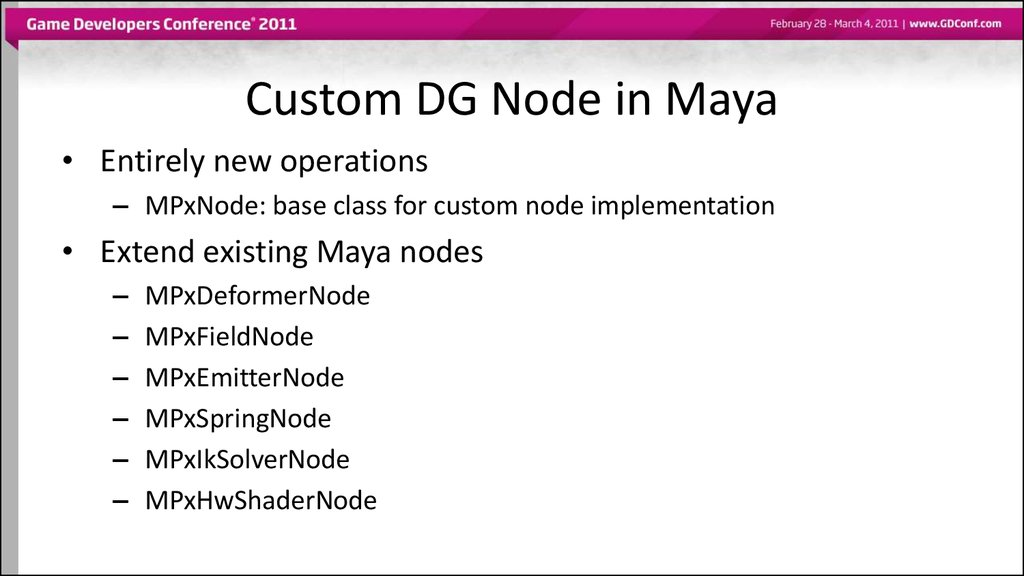 Custom DG Node in Maya