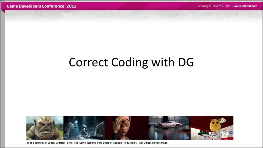 Correct Coding with DG