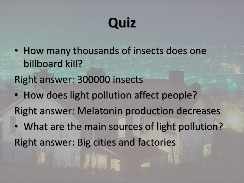Light pollution - online presentation