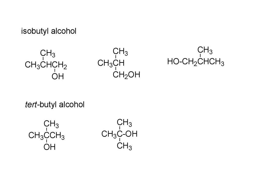 condensed structural formula of sec butyl alcohol