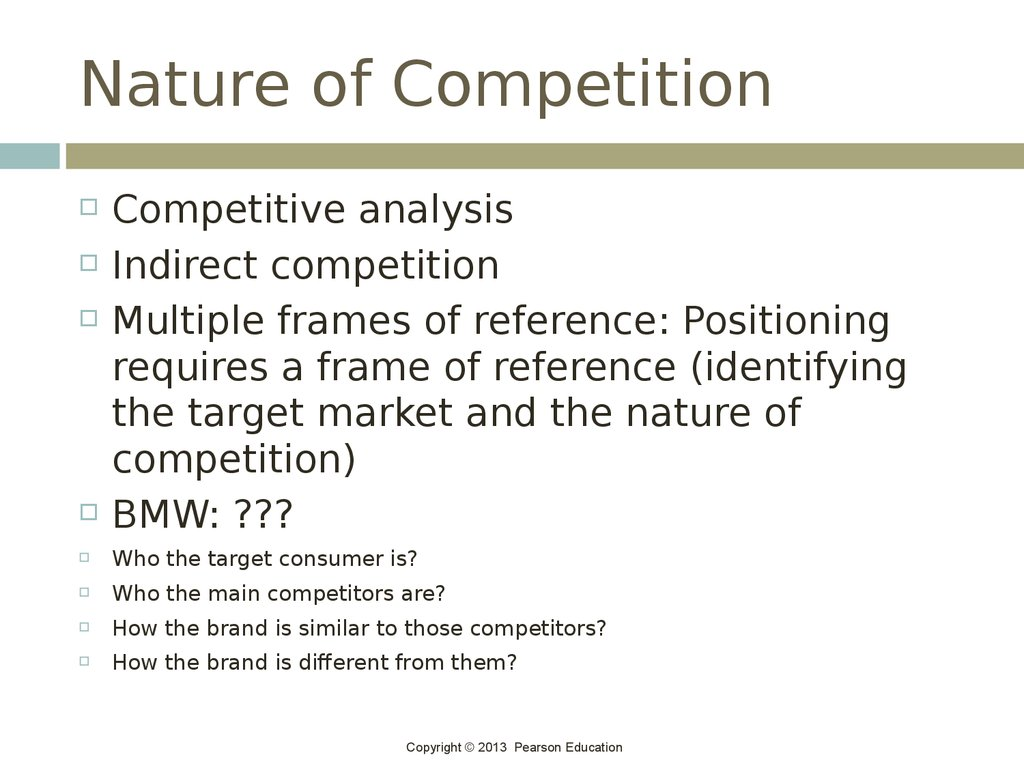 Nature of Competition