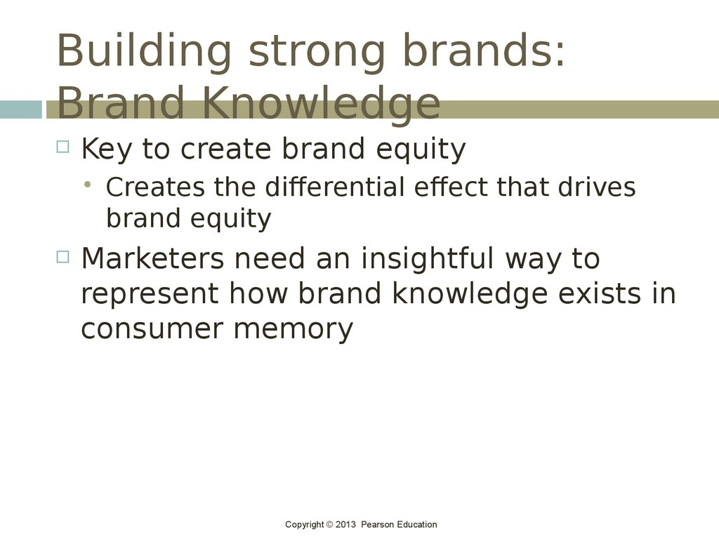 Building strong brands: Brand Knowledge