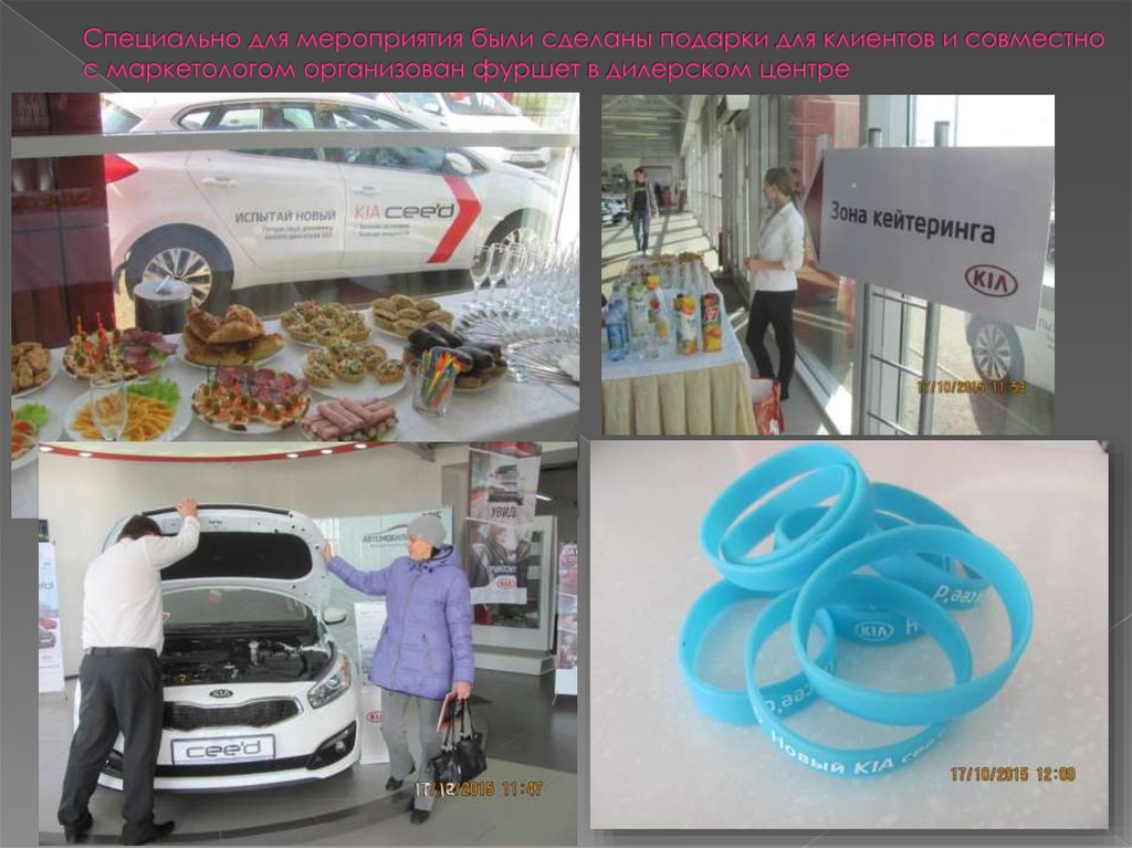 Отчет по производственной практике Авто Бизнес Центр Групп   Специально для мероприятия были сделаны подарки для клиентов и совместно с маркетологом организован фуршет в дилерском