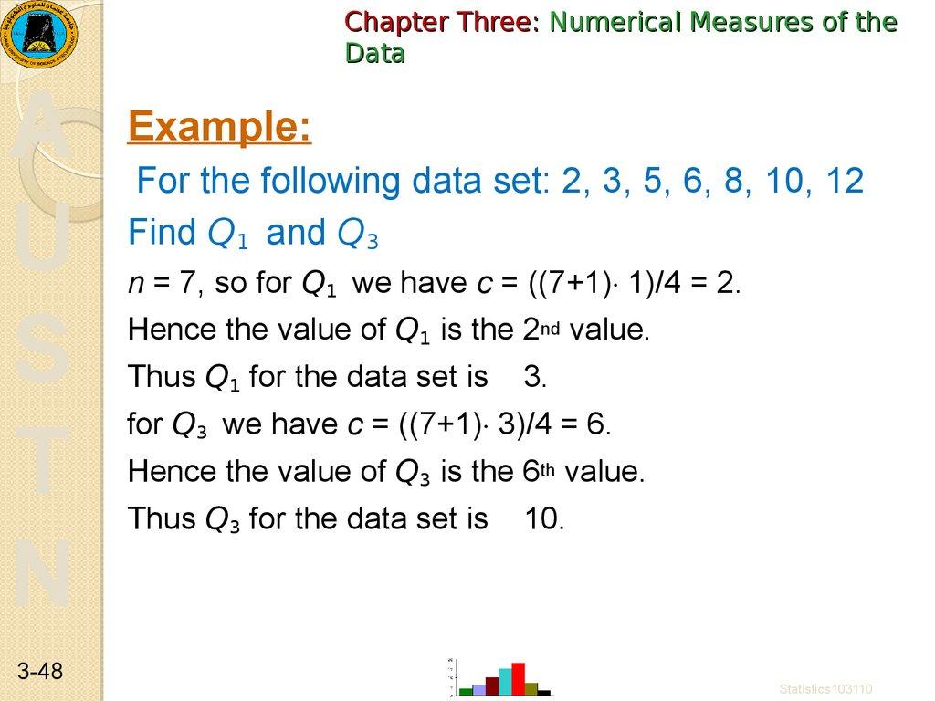 Statistics  Data Description  Data Summarization  Numerical