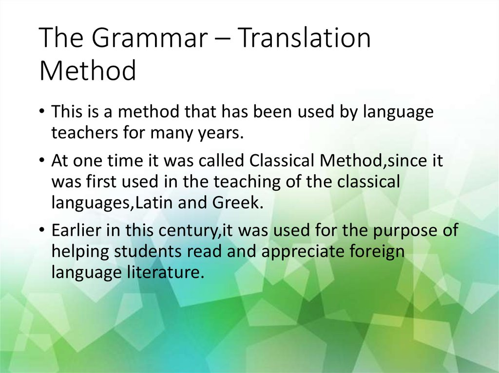 interactive methods of teaching foreign languages Adapts a different kind of method for teaching interactive transcript could different kind of method for teaching students foreign languages.