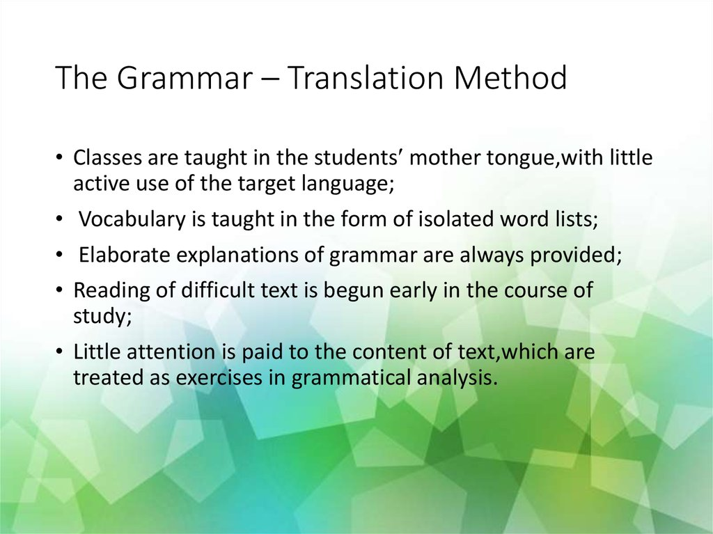 Methods and approaches in teaching english as a foreign