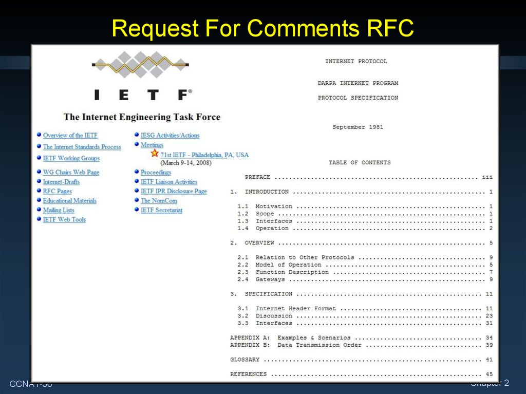 Request For Comments RFC