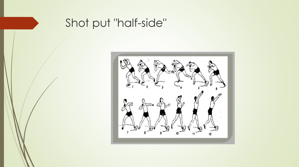 "Shot put ""half-side"""