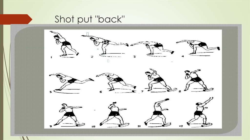 "Shot put ""back"""