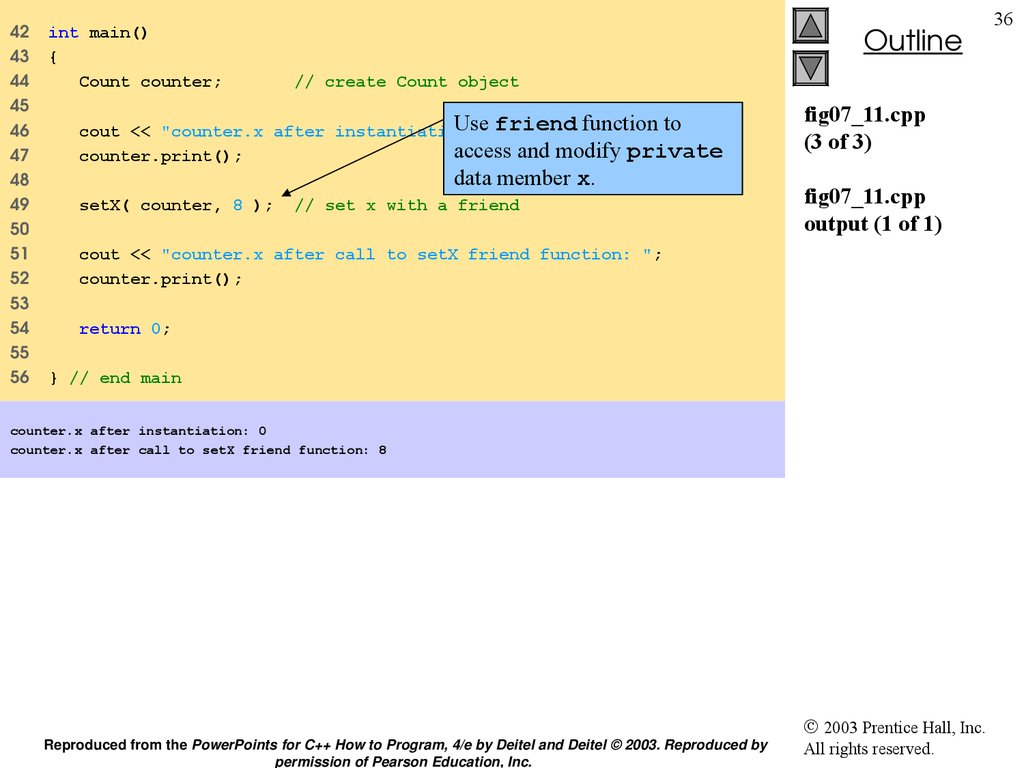 fig07_11.cpp (3 of 3) fig07_11.cpp output (1 of 1)