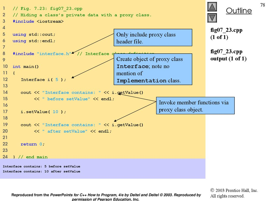 fig07_23.cpp (1 of 1) fig07_23.cpp output (1 of 1)