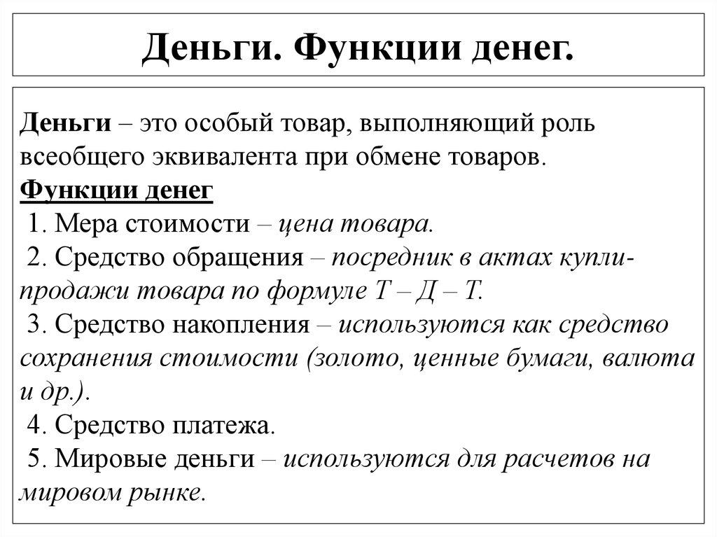 Денежная Масса Необходимая Для Осуществления Функций Денег Шпаргалка