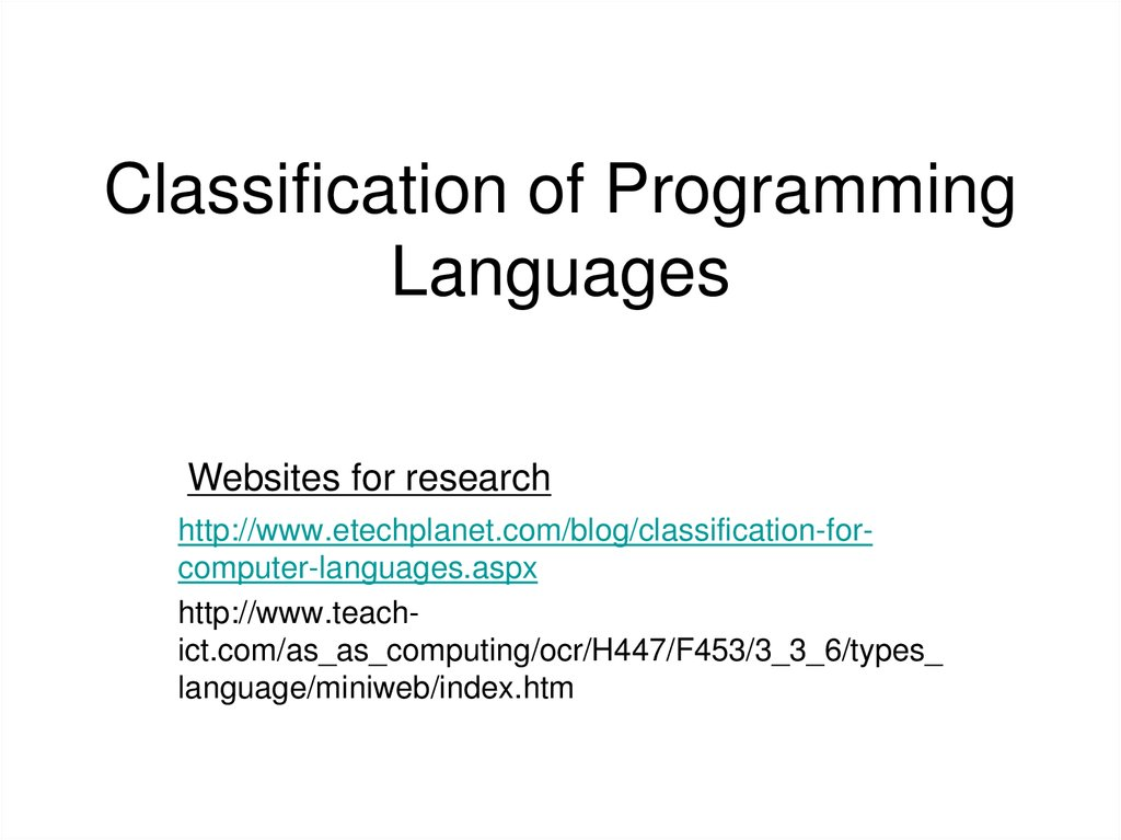 levels of programming languages A complete list of computer programming languages  it is a high-level programming language that supports imperative, object-oriented, and functional programming paradigms in its features like.