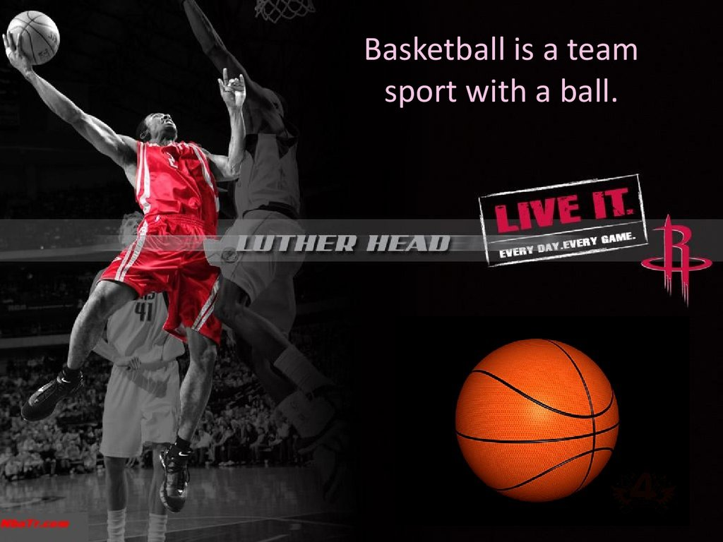 basketball is a team sport with a ball