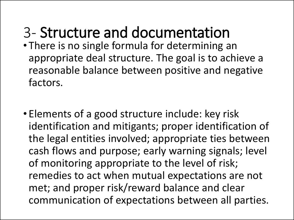 3- Structure and documentation