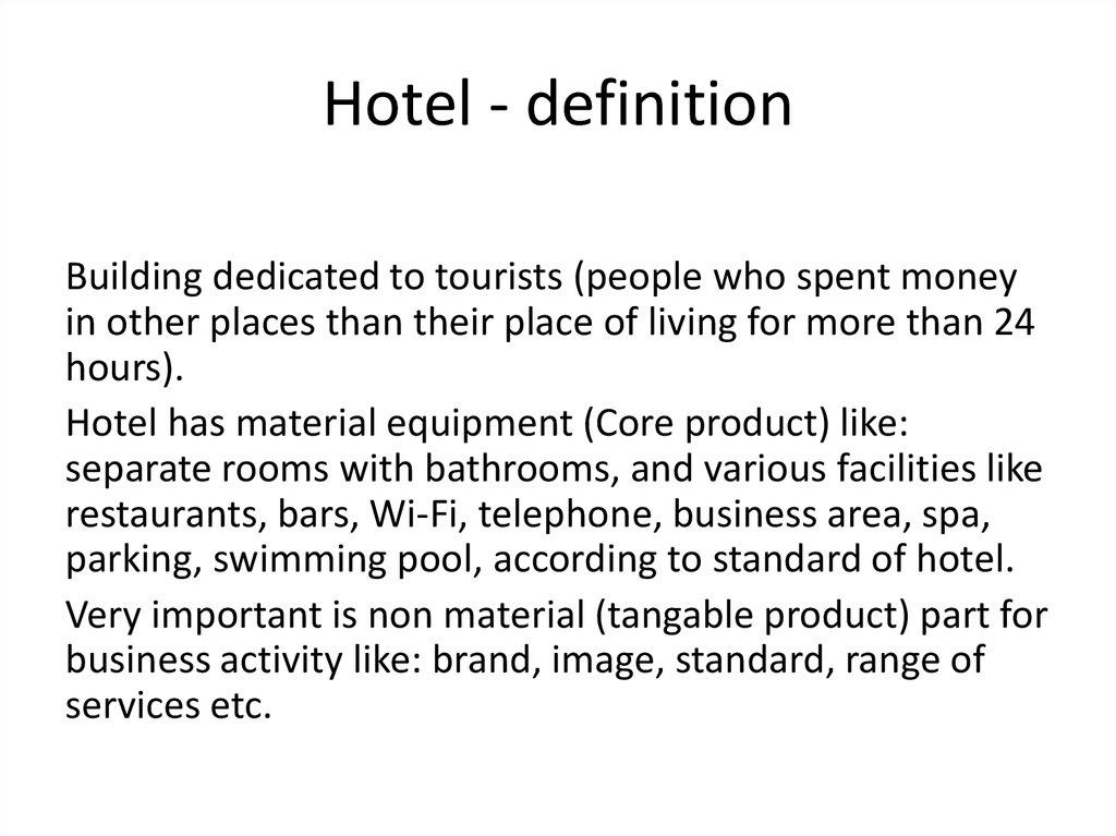 Domestic And International Hotel Sytems презентация онлайн