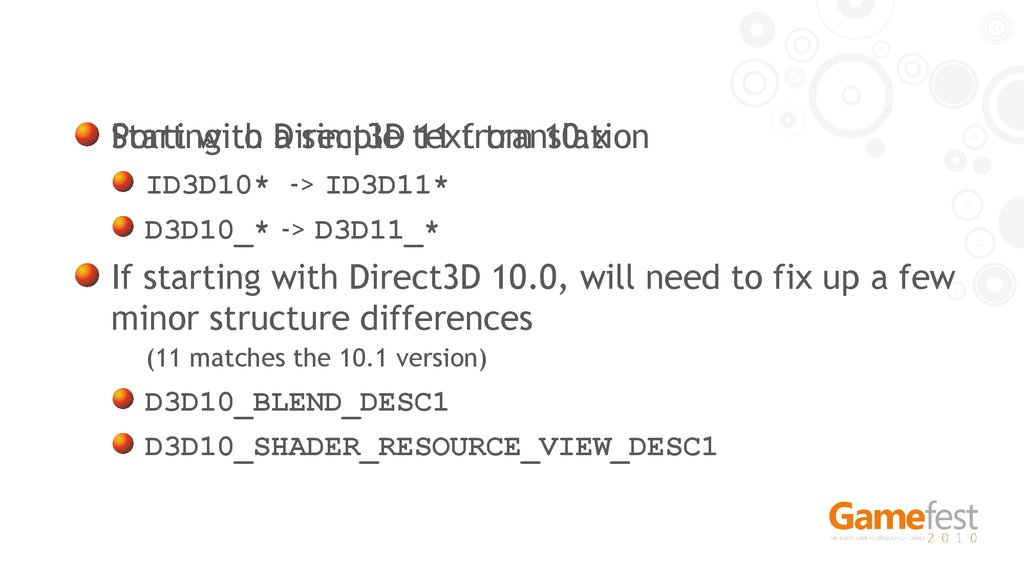 Porting to Direct3D 11 from 10.x