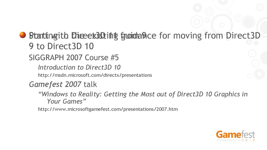 Porting to Direct3D 11 from 9