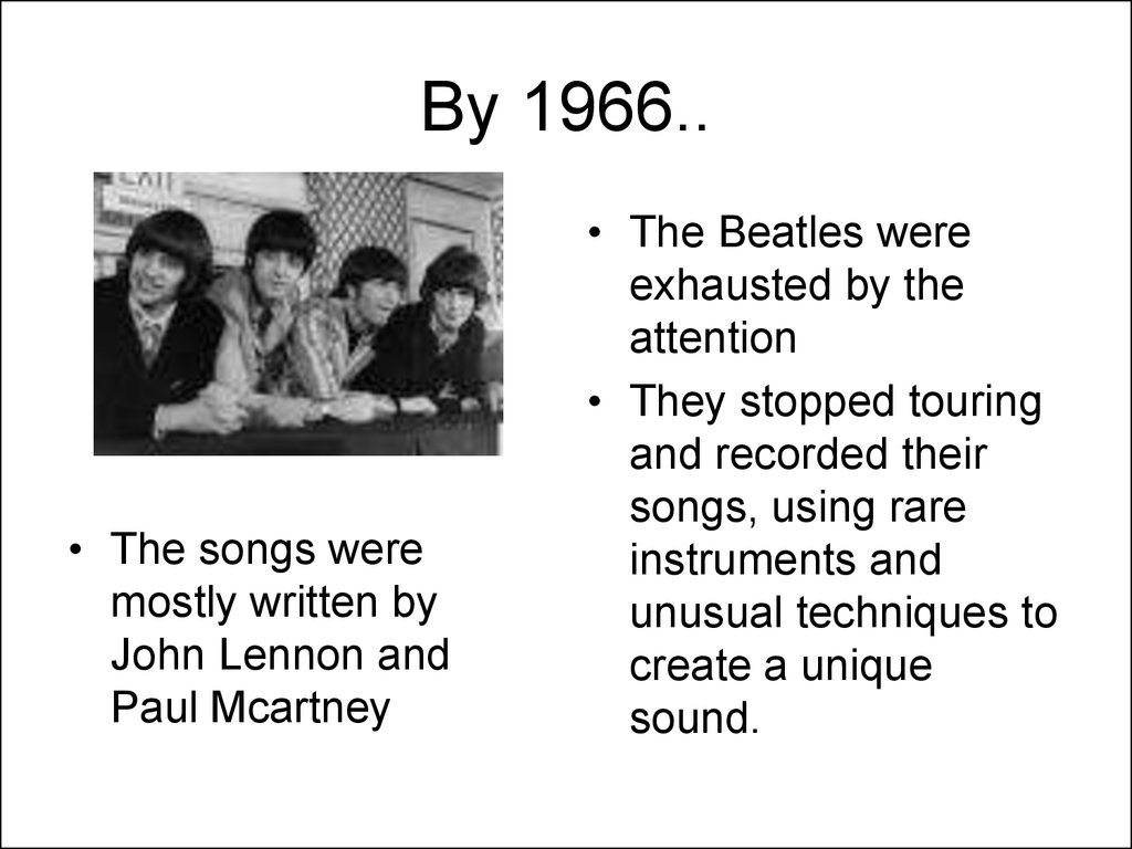 By 1966..
