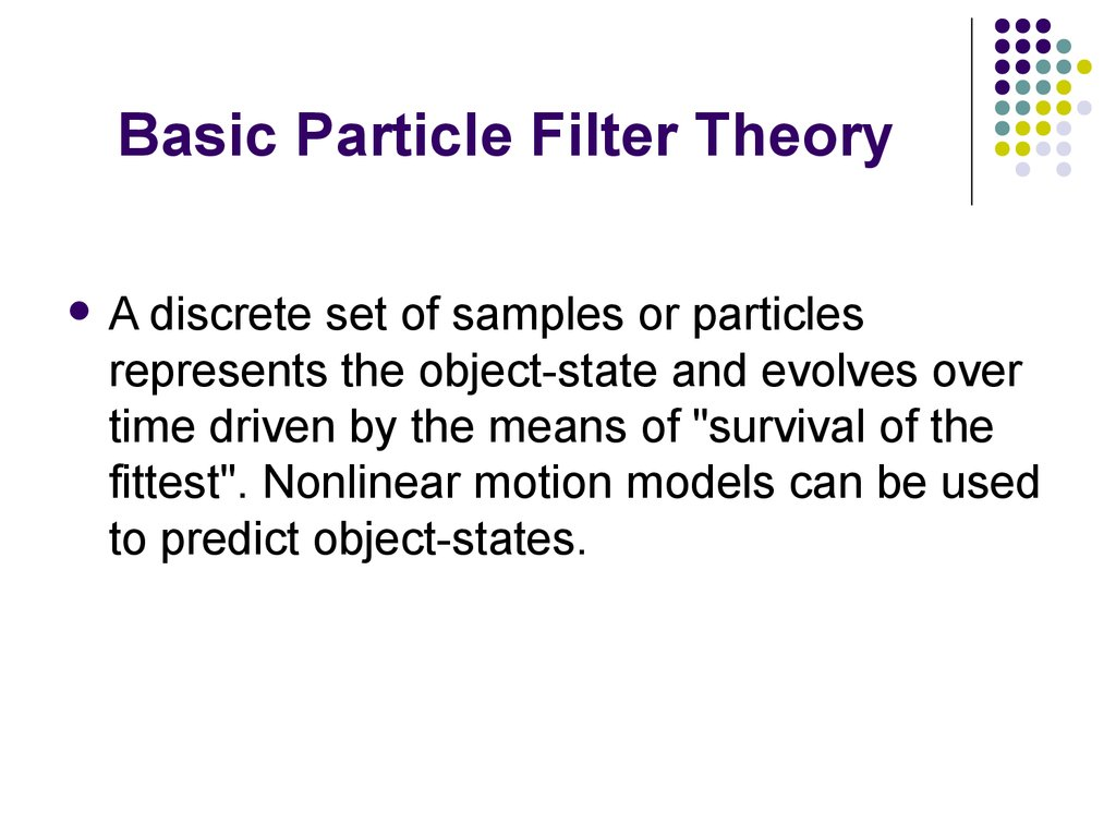 Basic Particle Filter Theory