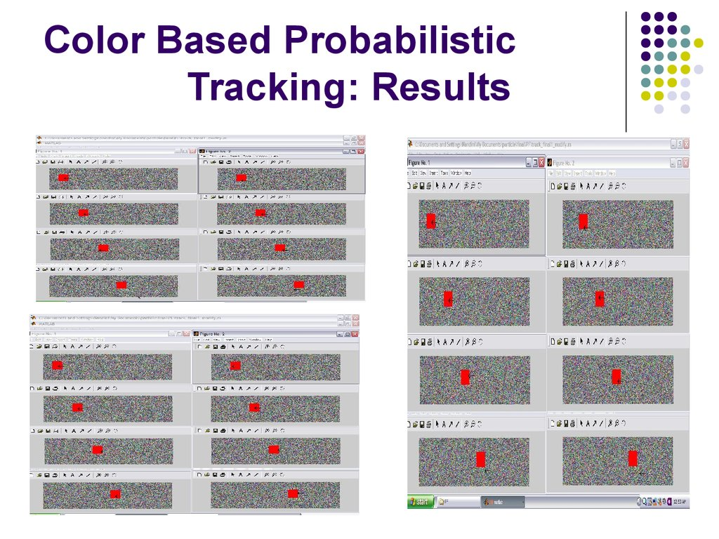 Color Based Probabilistic Tracking: Results