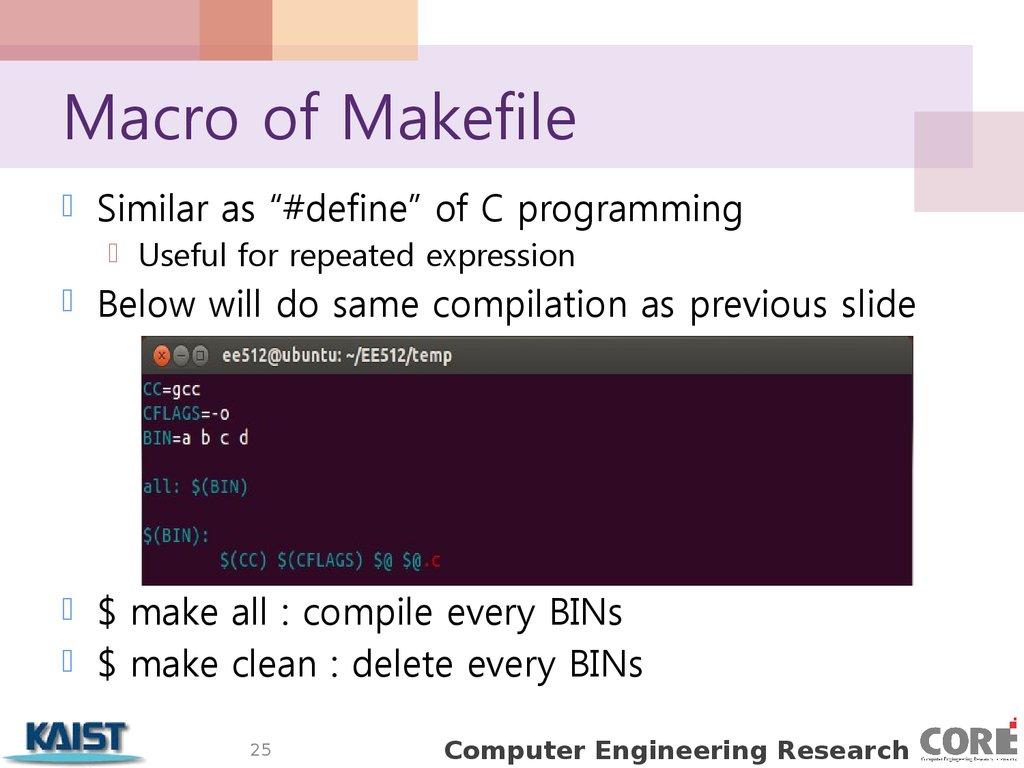Makefile macro