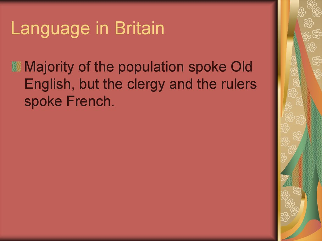 Language in Britain