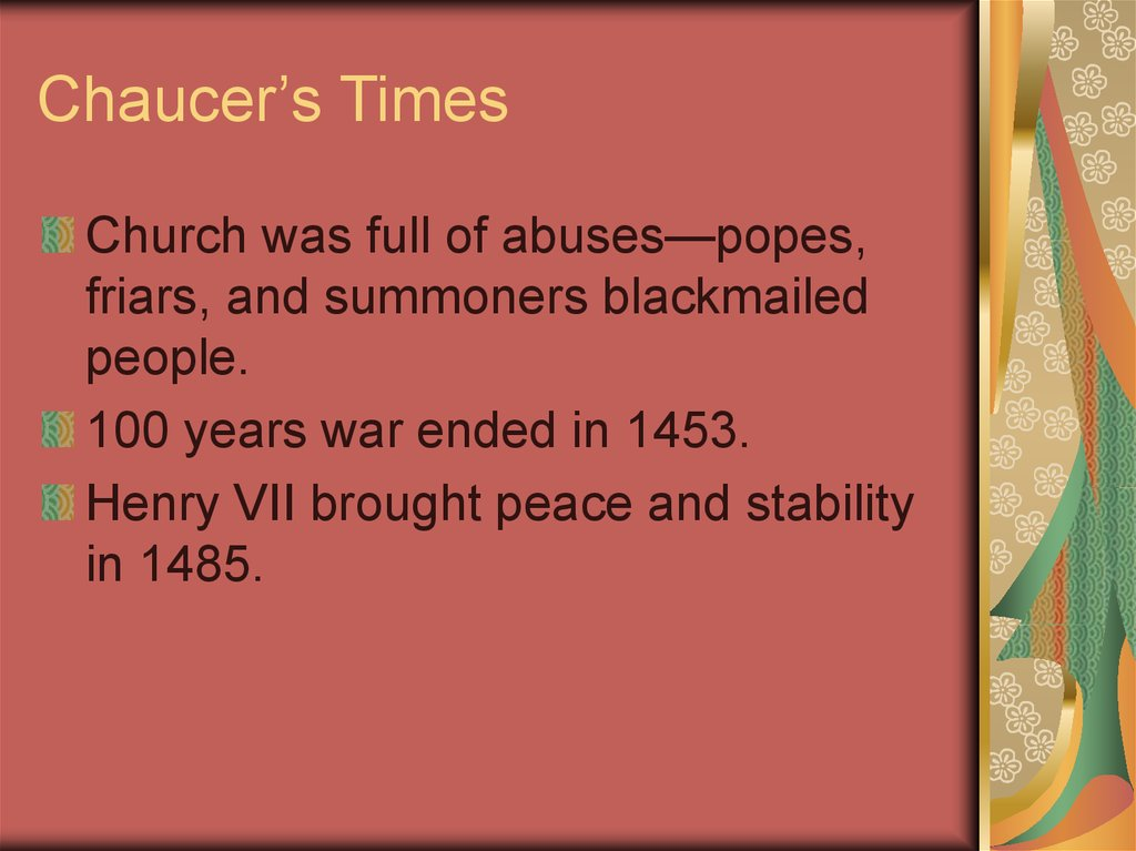 Chaucer's Times