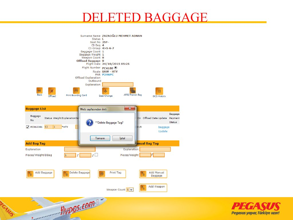 DELETED BAGGAGE