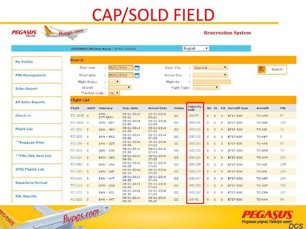CAP/SOLD FIELD
