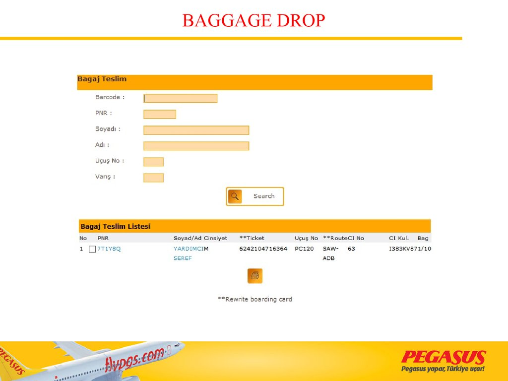 BAGGAGE DROP
