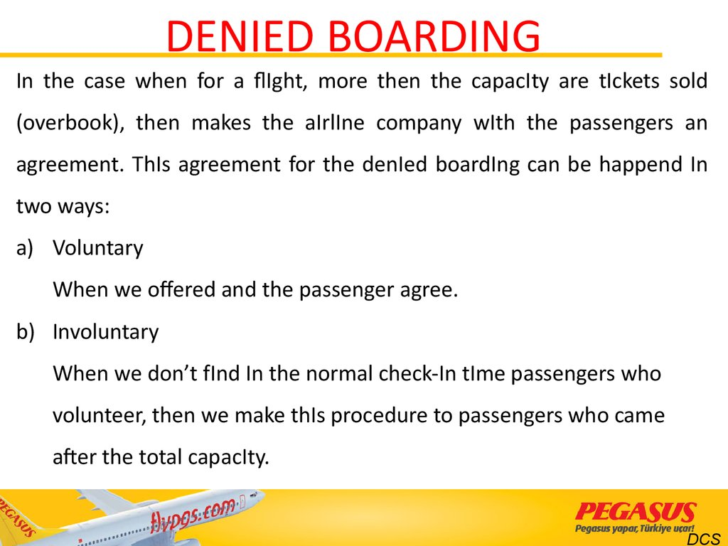 DENIED BOARDING