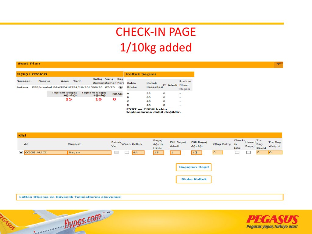 CHECK-IN PAGE 1/10kg added
