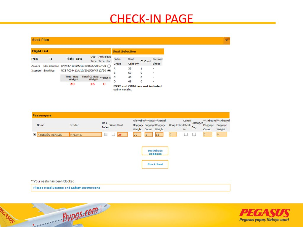 CHECK-IN PAGE
