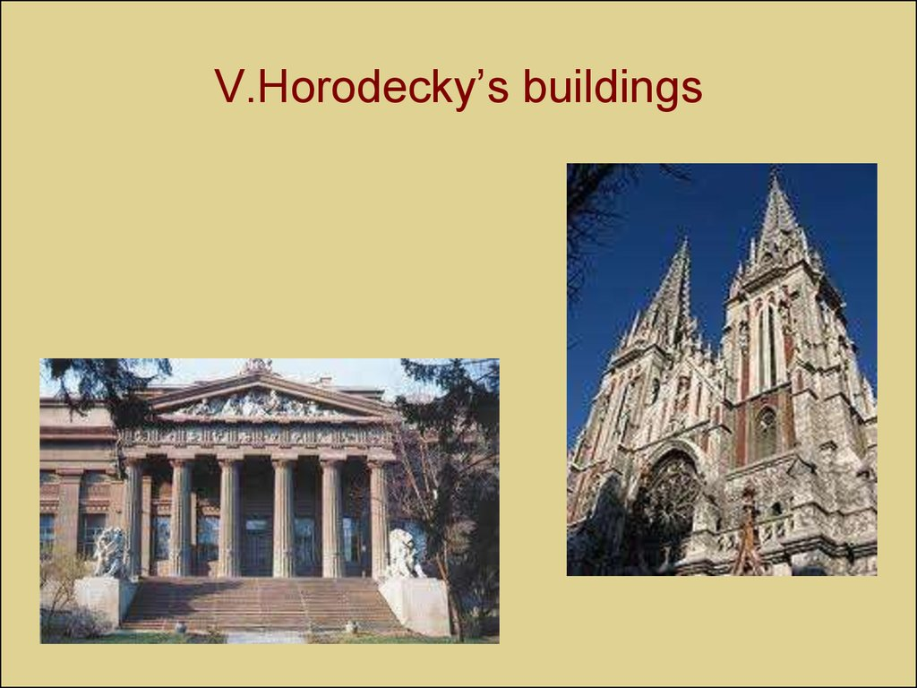 V.Horodecky's buildings